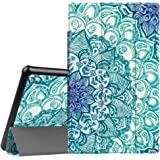 Fintie Slim Case for All-New Amazon Fire HD 10 Tablet (7th Generation, 2017 Release) - Ultra Lightweight Protective Stand Cover with Auto Wake/Sleep for Fire HD 10.1 Inch Tablet, Emerald Illusions
