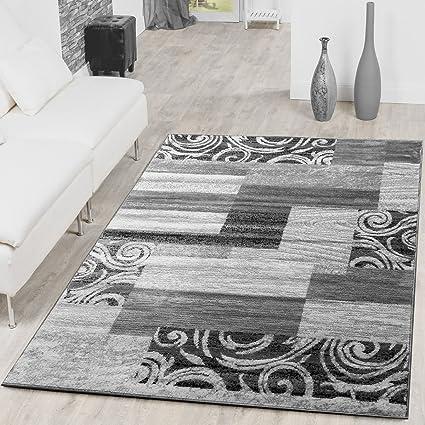T&T Design Tappeto Conveniente Design Patchwork Tappeto Moderno Per  Soggiorno Grigio Crema, Größe:60x100 cm