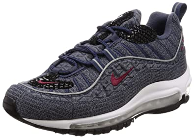 Zapatillas NIKE Air MAX 98 QS Blue/Red: Amazon.es: Zapatos y complementos