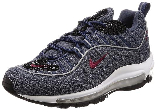 Zapatillas NIKE Air MAX 98 QS Blue/Red: Amazon.es: Zapatos y complementos