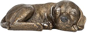 Roman Sleeping Garden Animal Statue Outdoor Yard Figurine (Dog)