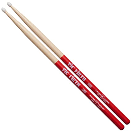 92781c29410 Amazon.com  Vic Firth American Classic 5A Nylon w  VIC GRIP Drumsticks  (5ANVG)  Musical Instruments