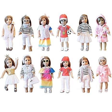 85418cb823a0 Amazon.com: Weardoll 18 Inch Doll Clothes – for Girl Doll, 35 Items ...