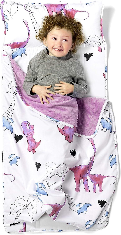 Nifogoo Kids Sleeping Bag Toddler Nap Mat Foldable Animal Play Pillow Winter Sleeping Bag for Children Aged 1-4 Outdoor Indoor Camping Traveling