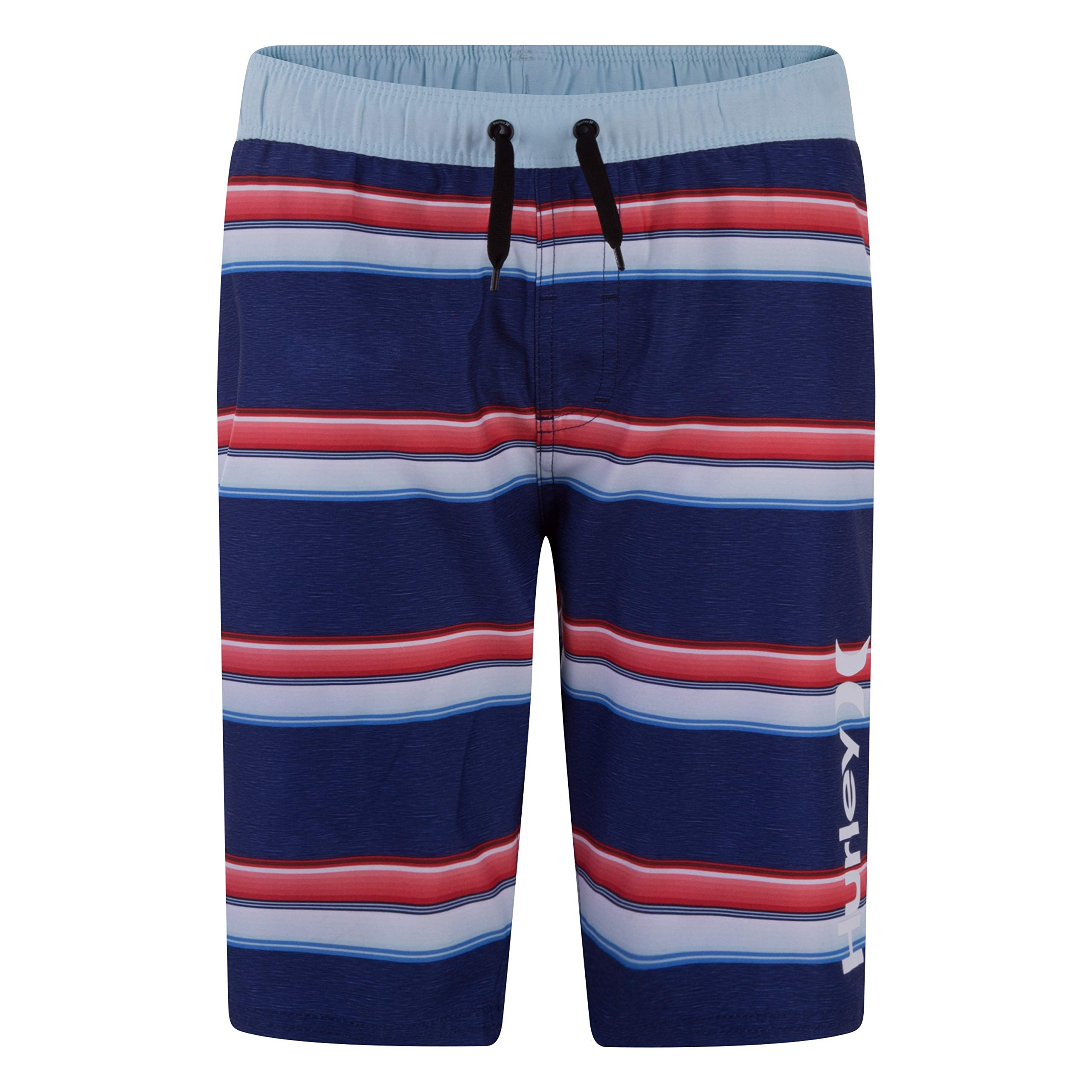 Hurley Toddler Boys' Board Shorts, Deep Royal Blue Striped, 2T