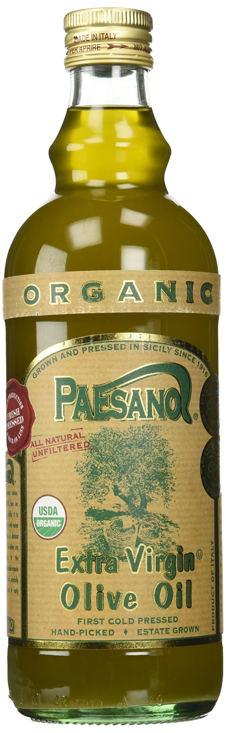 Paesano Organic Unfiltered Extra Virgin Olive Oil - 34oz by Paesano