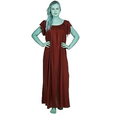 303793066f Patrorna Women s Petal Sleeve Shift Maternity Nighty Night Dress in Maroon (Size  S