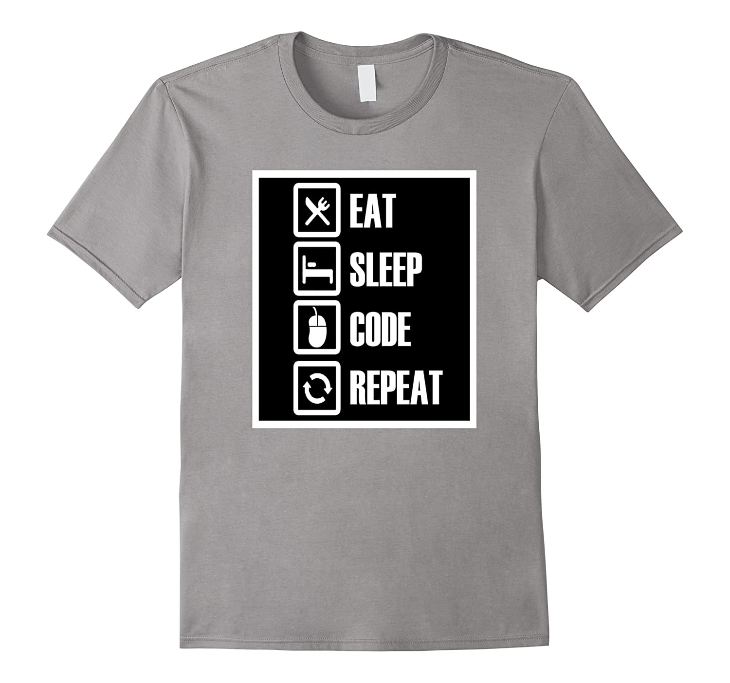 Eat Sleep Code Repeat T SHIRT for coders, software engineers-TH