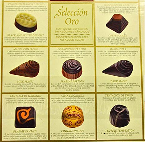 Amazon.com : Valor No Sugar Added 7oz Assorted Chocolate Box, Seleccion Oro : Chocolate Assortments And Samplers : Grocery & Gourmet Food