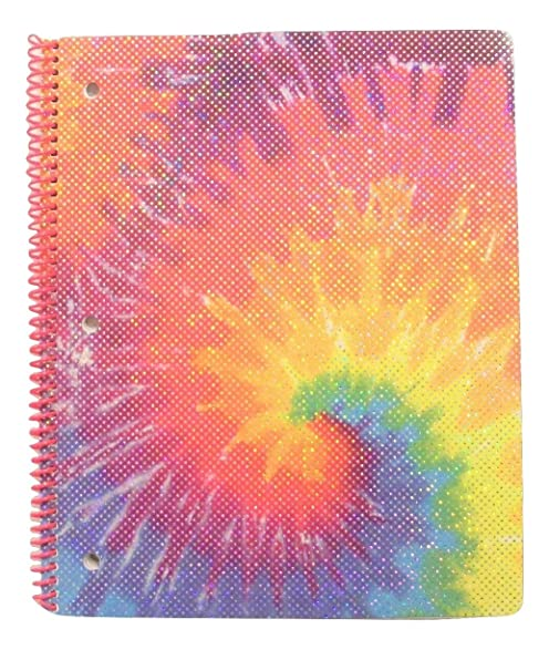 Amazon Com University Of Style Tye Dye Sparkle Spiral Notebook