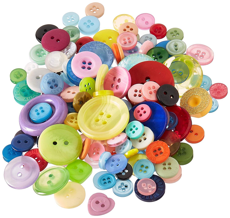 GB103 Multicolor Buttons Galore Grab Bag Button