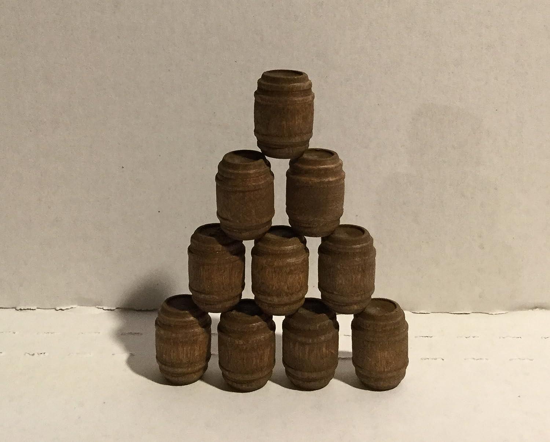 Model Railroad O Gauge Whiskey Barrels Set of 10