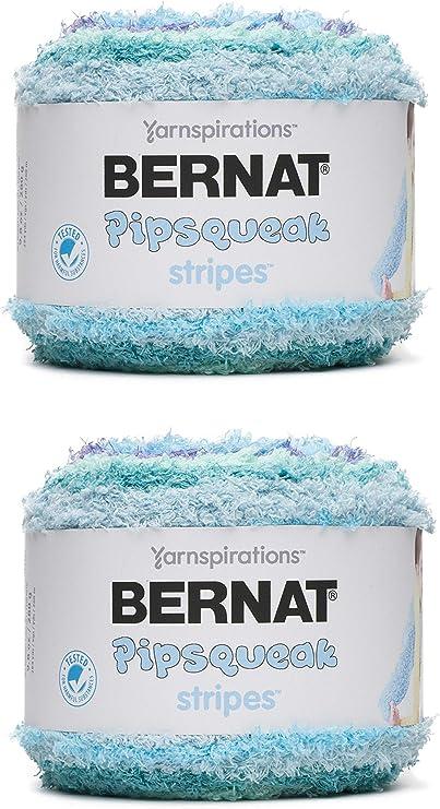 Bernat Pipsqueak Stripes Yarn, 9.8 Oz Box Car 2-Pack