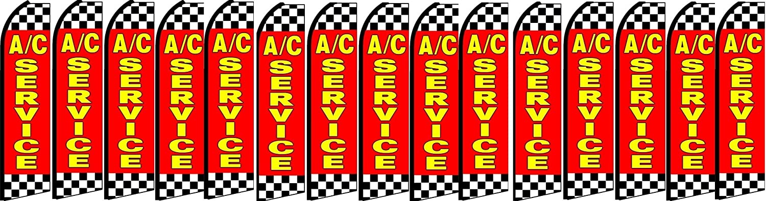 ac seervice King Swooper Feather Flag Sign Pack of 15 Hardware not Included