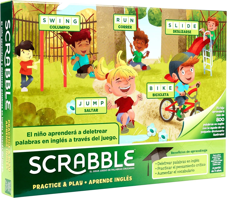 Mattel Games - Scrabble Aprende Inglés, Juego de mesa (GGB31 ...