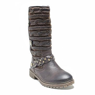MUK LUKS Women's Gayle Winter Boot, Brown, ...