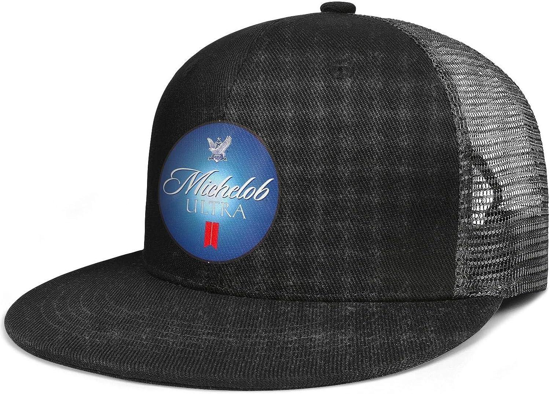 AOAOAOUV Men Unisex Adjustable Modelo-Especial-White-Logo-Baseball Cap TruckDriver Flat Hat