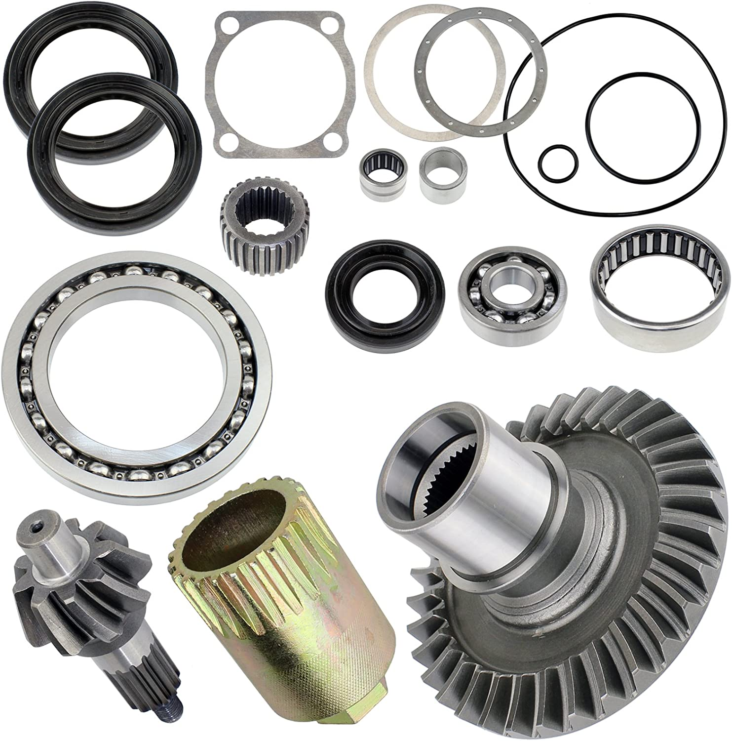 Caltric Complete Rear Differential Rebuild Kit for Yamaha Grizzly 660 Yfm660 2002-2008