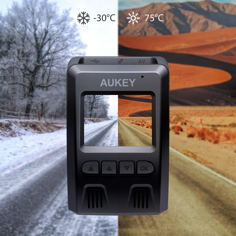 AUKEY ドライブレコーダー 前後カメラ 車載カメラ 1080P FHD Gセンサー搭載 WDR/HDR機能 LED信号対策済み ループ録画 動き検知 緊急録画 タイムラプス 2年保証 目立たず式 DR02D