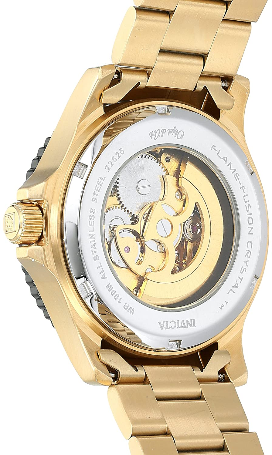 Amazon.com: Invicta Mens Objet dArt Automatic Stainless Steel Casual Watch, Color:Gold-Toned (Model: 22625): Invicta: Watches