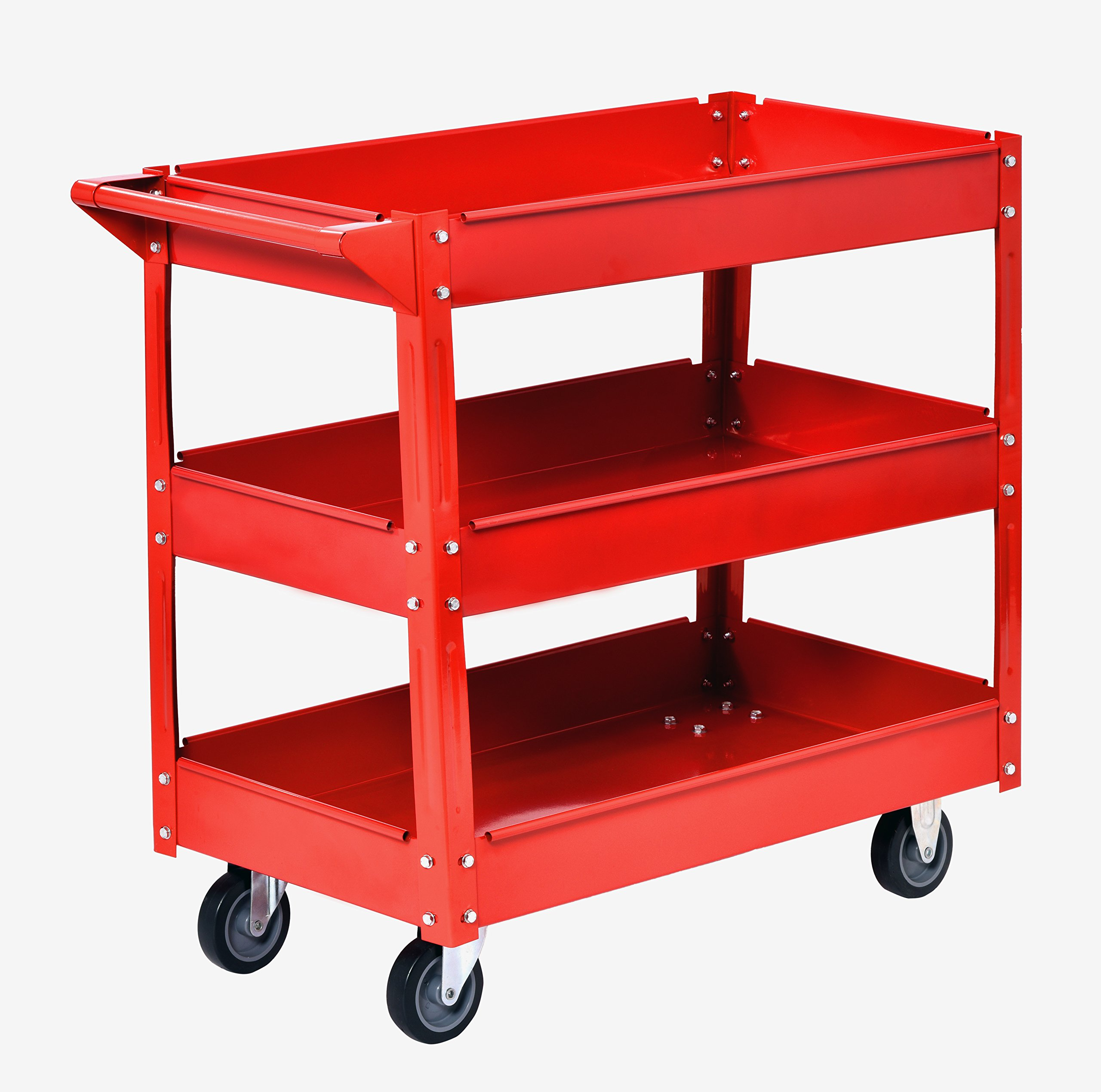 Muscle Carts SC3216-RED Teel Industrial Commercial Service Cart, 220 lb. by Muscle Carts (Image #1)