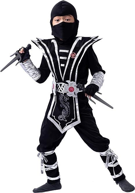 Spooktacular Creations Disfraz de Ninja Plateado Traje de Vestir ...