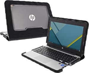 Gumdrop DT-HPCM11G5-BLK Droptech Case Designed for HP 11 G5 Chromebook for K-12 Students, Teachers, Kids - Black, Rugged, Shock Absorbing, Extreme Drop Protection
