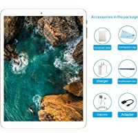 Tablet 10.1 pollici sbloccato, Tablet PC Android 7.0 con slot per scheda SIM doppio, 3G, GSM, Octa Core(8), memoria RAM da 3GB + 32GB, fotocamera integrata Dual Camera, Bluetooth 4.0, Wi-Fi e GPS