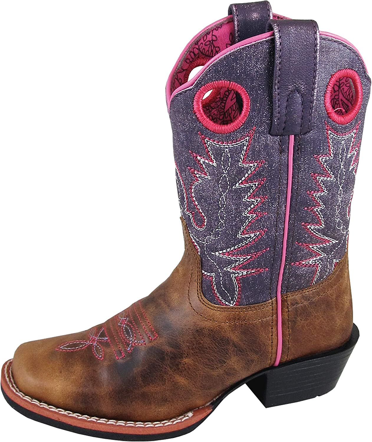 Smoky Mountain Girls' Ellie Western Boot Square Toe