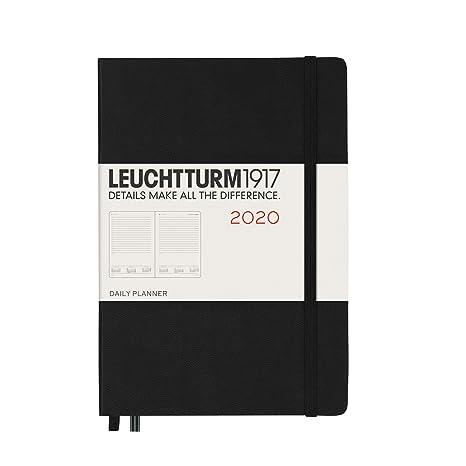 Agenda de 2020, tapa dura, tamaño A5, color negro, texto en ...