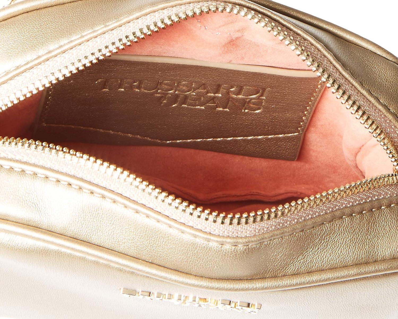Trussardi jeans dam baby kub cacciatora Sm Ecolea axelväska, 6 x 13 x 17 centimeter Brun (brons)