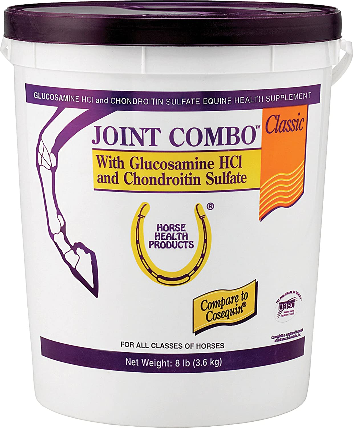 Joint Combo Classic Support Supplement Horse MSM Chondroitin Glucosamine 8 lbs #