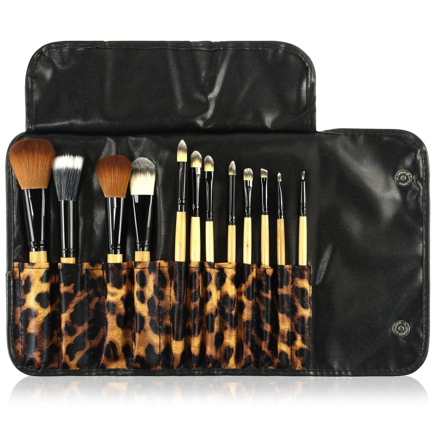 Zodaca [10 Pcs-Set] Professional Makeup Unicorn Brush Set with Spiral Handle & Rainbow Bristles - Including Foundation Blending Blush Concealer Eye Face Liquid Powder Cream Cosmetics Brushes Kit eForCity