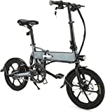 FIIDO Folding Electric Bicycle, Aluminum 16 Inch Electric Bike for Adults 6 Speed E-Bike with 36V 7.8AH Built-in Lithium Battery, 250W Brushless Motor and Dual Disc Mechanical Brakes