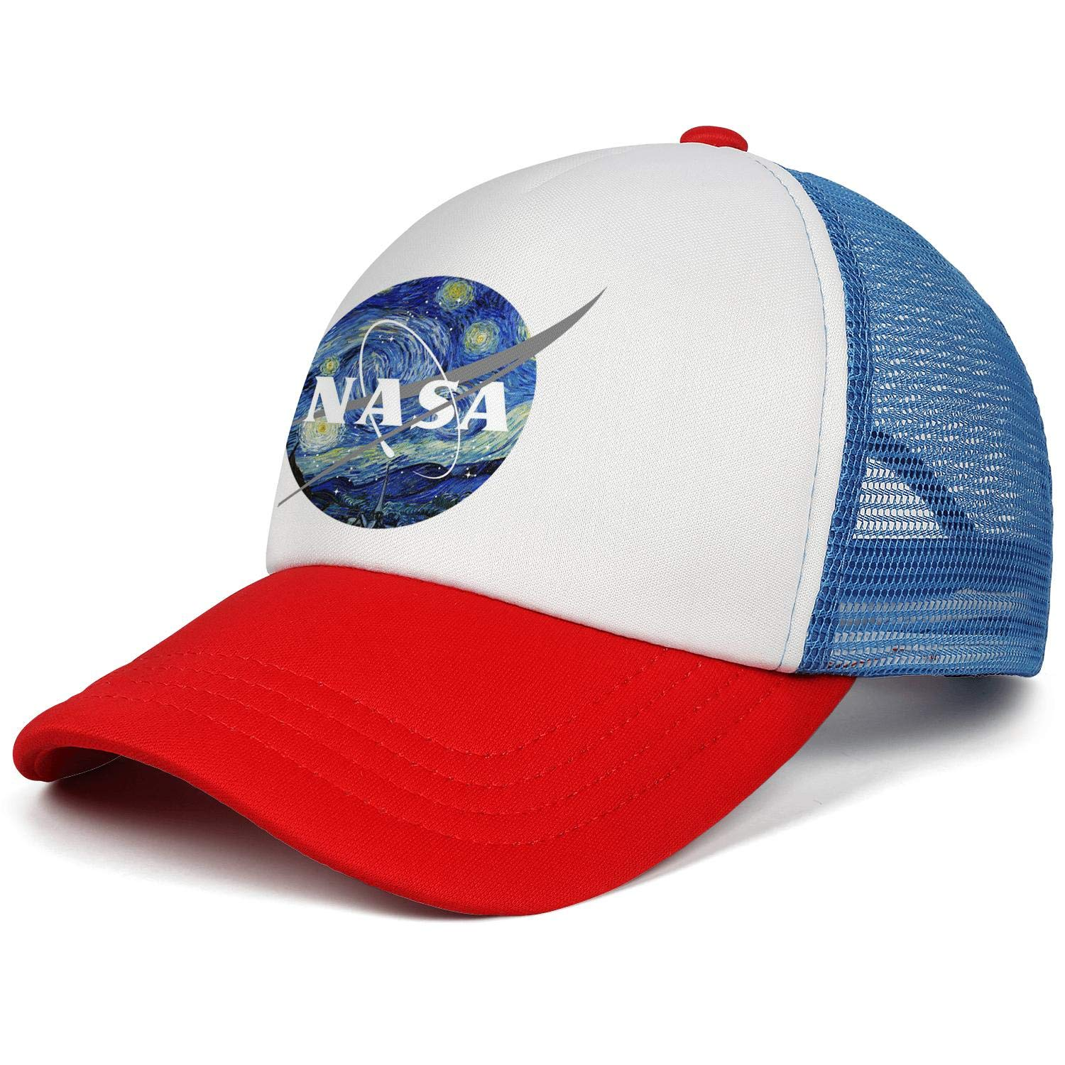 picture about Printable Nasa Logo known as Trucker Hat for Adult males/Gals NASA Brand Starry Sky Adjustable