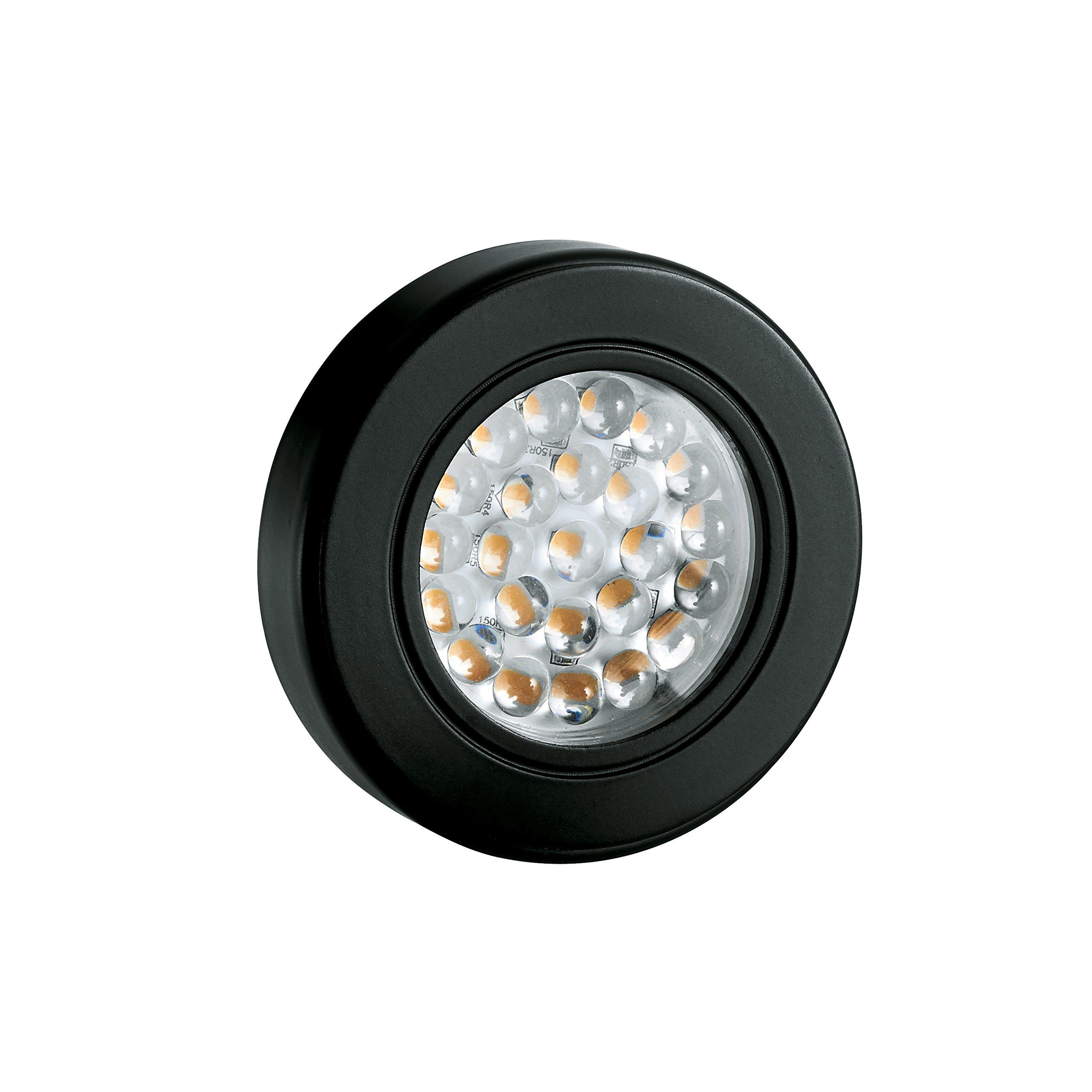Tresco Lighting L-1EQPCBL-KIT 12V DC UL Safety Listed Cabinet Lighting with 2.5W EquiLine Puck Light, Black