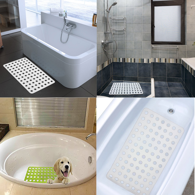 AIR TREE Non Slip Shower Mat/Bath Mats,Rubber Bathtub Mat with Big ...