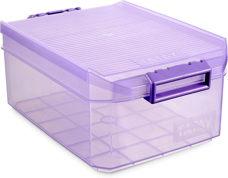Tatay 1151213 Caja de Almacenamiento Multiusos Bajo Cama con Tapa ...