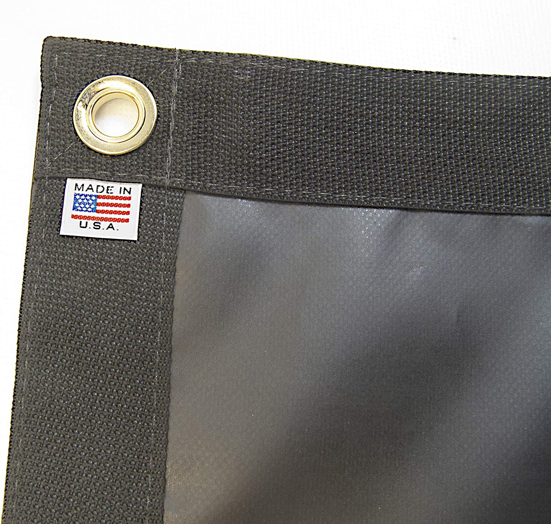 Tarp, Black, Durable, Waterproof, 10 Oz. Vinyl w/Reinforced Edges (3' X 5' Feet)