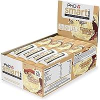 PhD Smart Bar Barritas Proteína Bizcocho de Chocolate blanco (12 x 64g), 31% Proteína