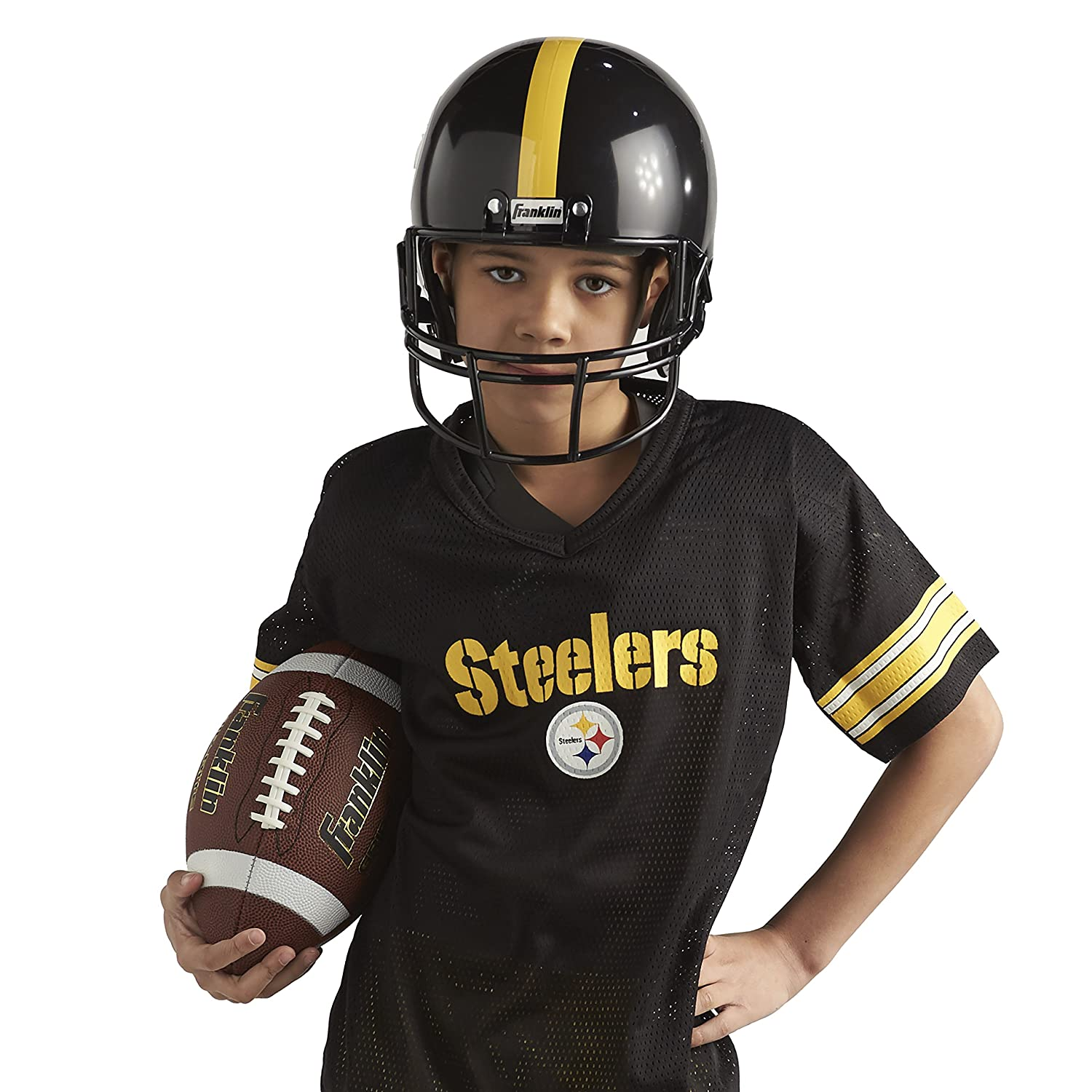 Pants NFL Kids Helmet Football Costume for Boys and Girls Franklin Sports Deluxe NFL-Style Youth Uniform Jersey Chinstrap and Iron on Numbers Included