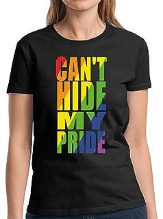 Gay Pride T-Shirt Can/'t Hide My Pride LGBT Flag Men/'s Tee