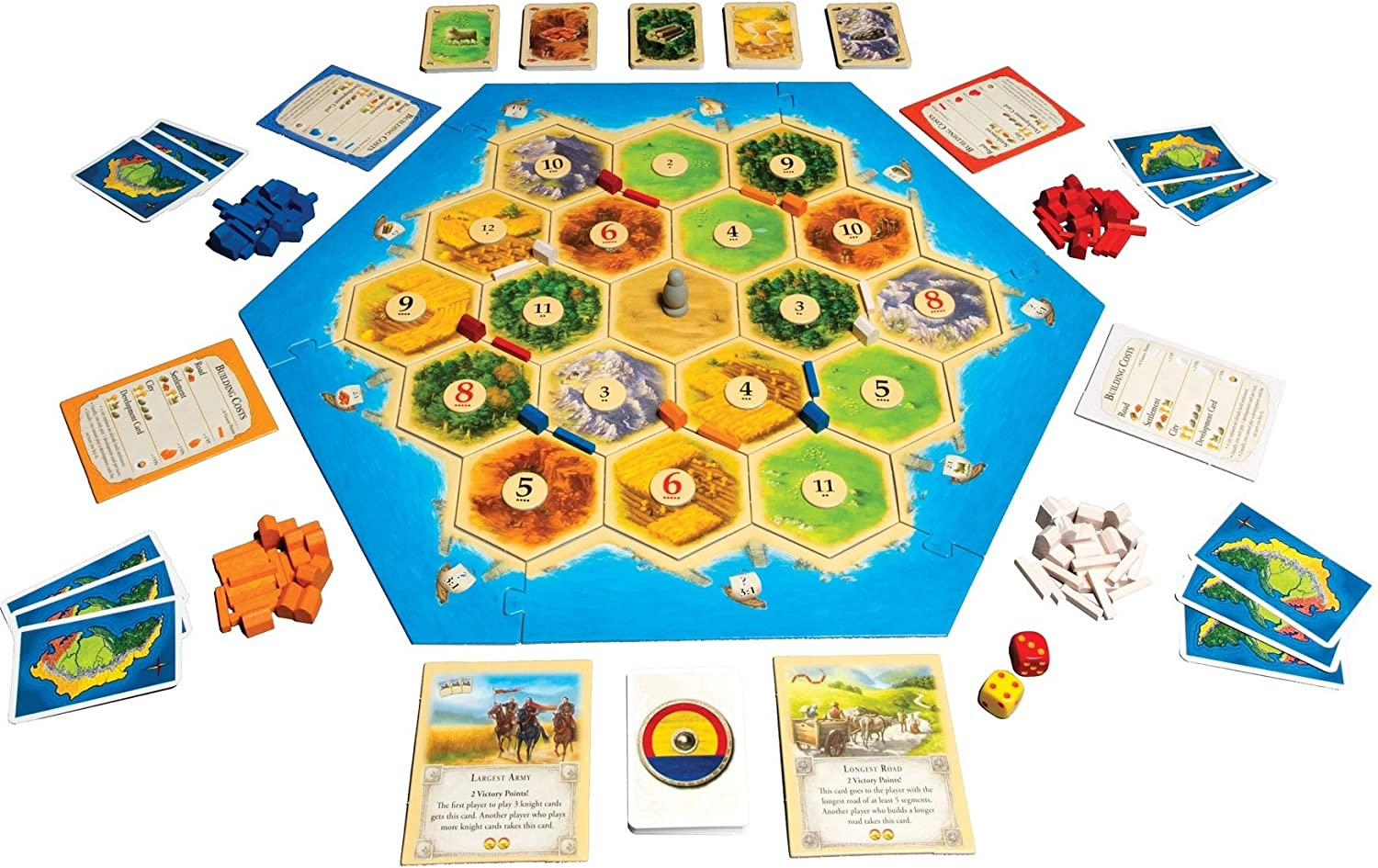 Catan | Trade Build Settle | 3 a 4 Jugadores, 60 Minutos | Again Products Bundle: Amazon.es: Juguetes y juegos