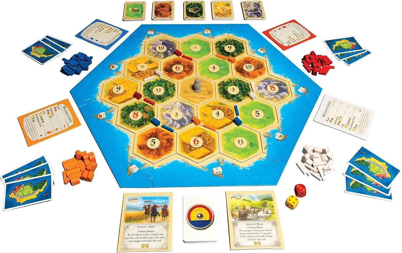 Catan | Trade Build Settle | 3 a 4 Jugadores, 60 Minutos | Again Products Bundle: Amazon.es: Juguetes y juegos