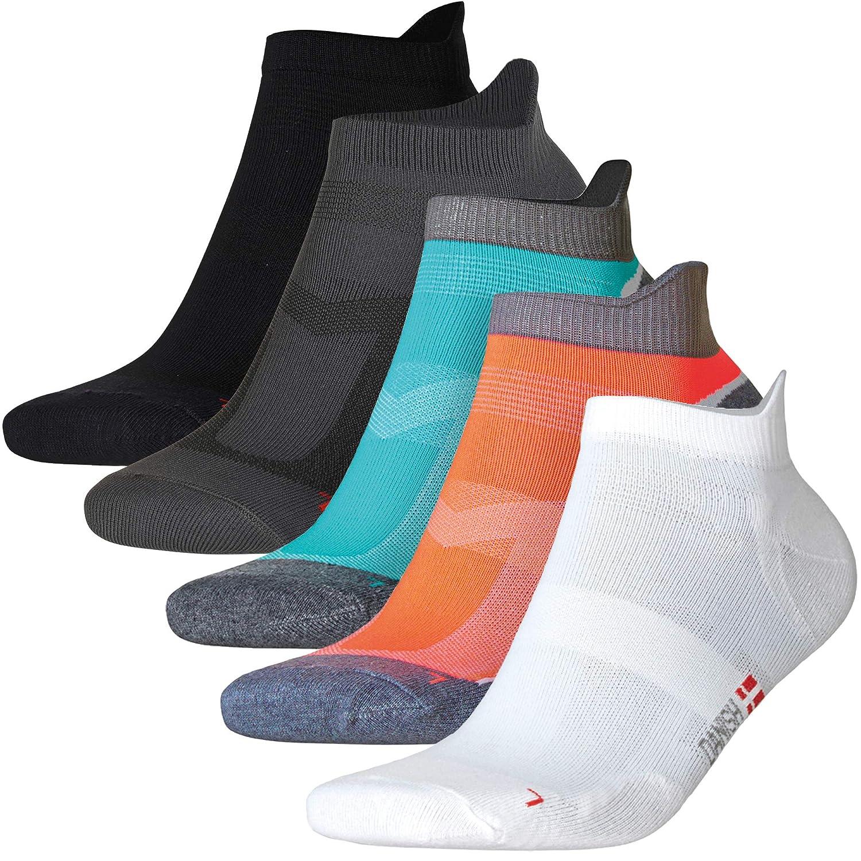 Calcetines de Deporte Low Cut Pro, para hombre, mujer y niño, 5 o 3 pares, calcetines cortos, tobilleros, deportivos, zapatilla, transpirable, fitness, tenis, correr, uso diario, negros, blancos mujer y niño DANISH ENDURANCE