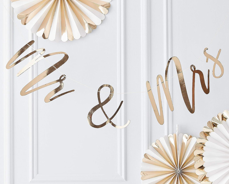Ginger Ray Toile de fond en forme de c/œur dor/é pour d/écoration de f/ête de mariage