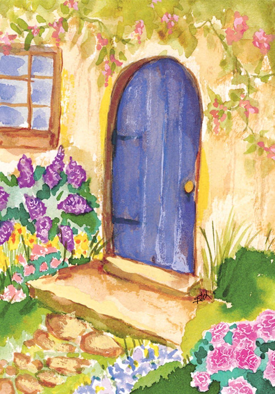 """Toland Home Garden 119484 Cottage Door 12.5 x 18 Inch Decorative, Garden Flag (12.5"""" x 18"""")"""
