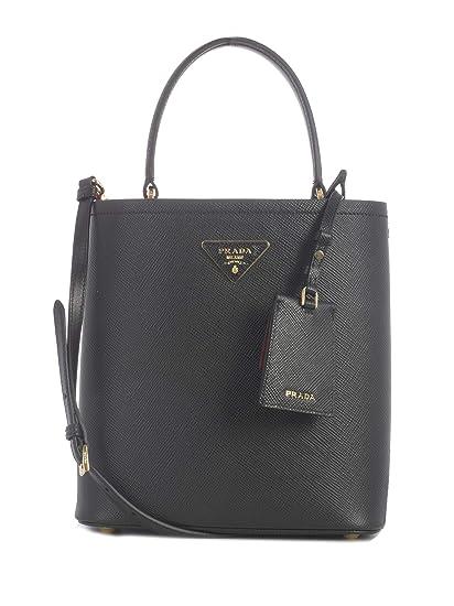 8c8678ccb98b Prada Women's 1Ba2122erxf0lj4 Black Leather Handbag: Amazon.co.uk: Clothing