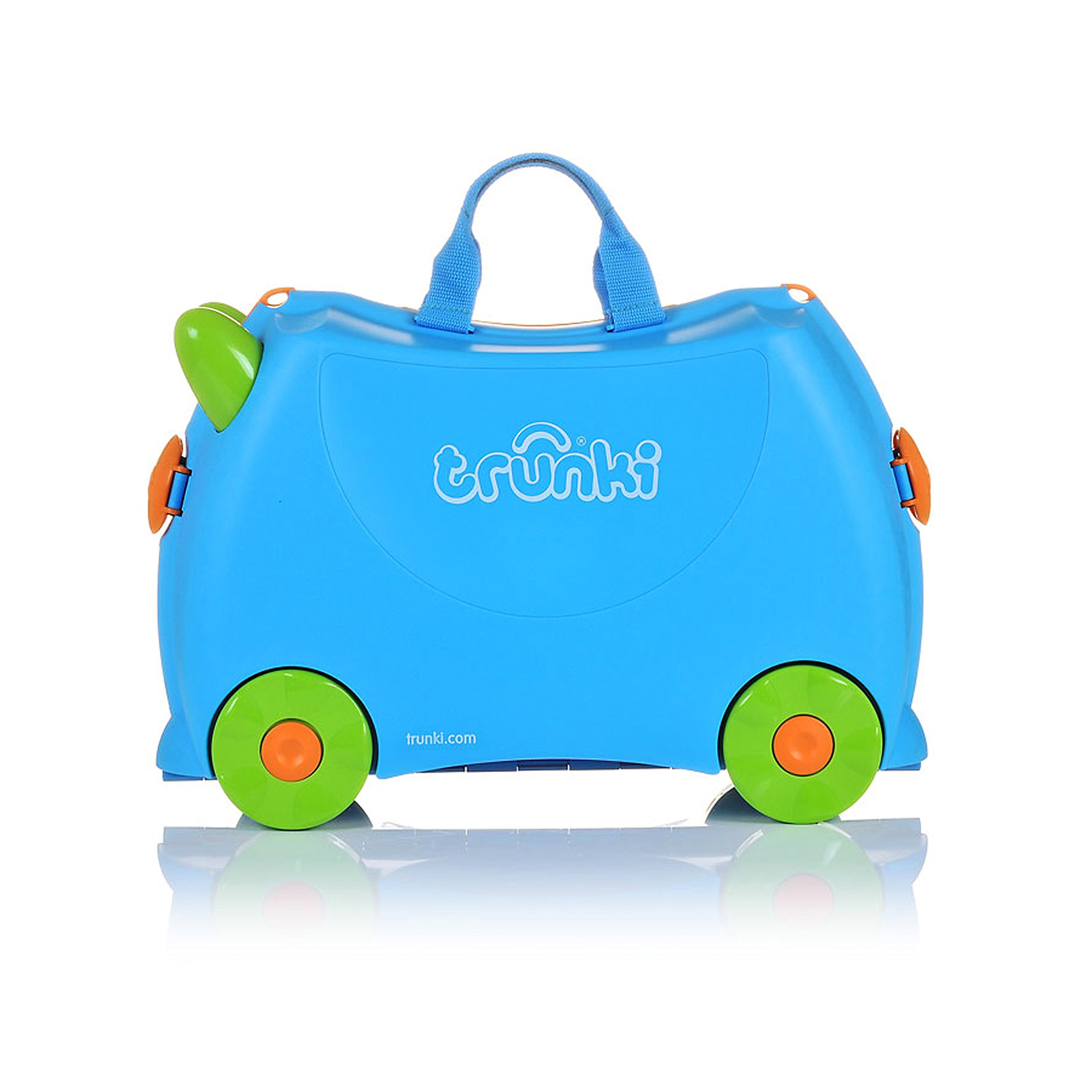 Trunki Original Kids Ride-On Suitcase and Carry-On Luggage - Terrance (Blue) by Trunki (Image #3)