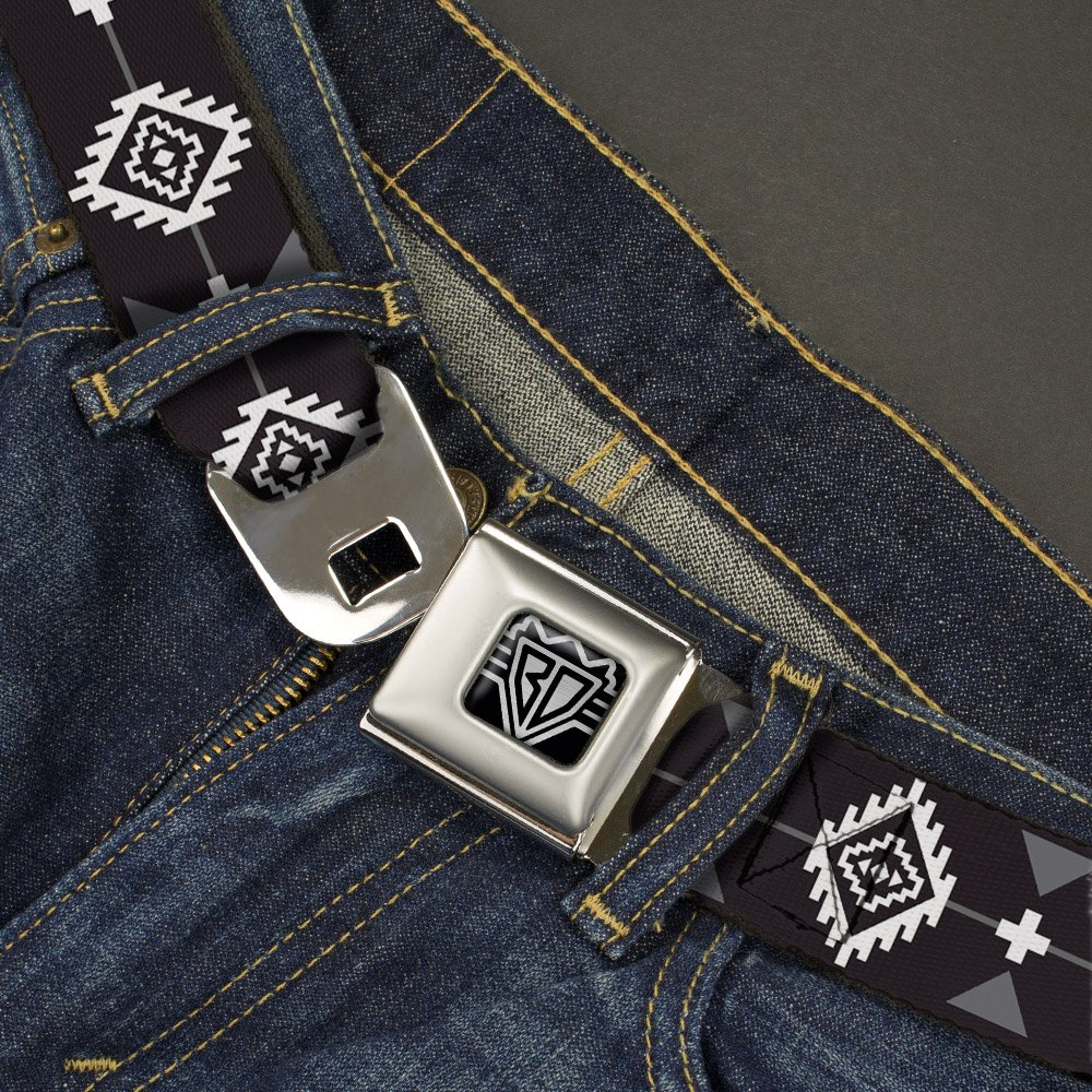 Navajo3 Black//Gray//White 20-36 Inches in Length Buckle-Down Seatbelt Belt 1.0 Wide